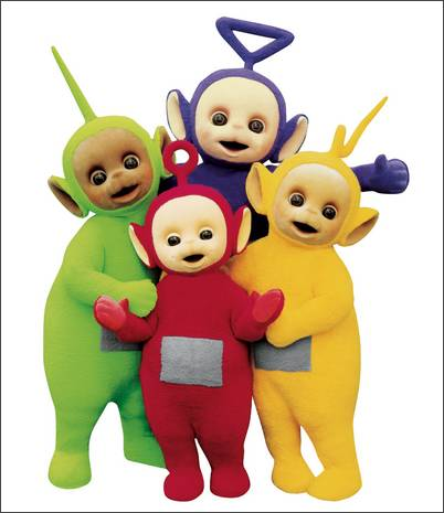 Teletubbies names and colors