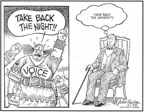 Image result for radical feminists cartoon